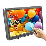 Touchscreen Tragbarer Monitor von ELECROW, 10,1-Zoll kapazitives IPS HDMI Touch Screen Display 1920×1080p mit Eingebaut Lautsprechern für PC/Raspberry Pi/Switch/X-Box/ PS4