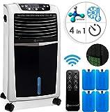 KESSER® 4in1 Mobile Klimaanlage   Fernbedienung   Klimagerät   Ventilator Klimaanlage   8 L Wasser/Eis Tank   Timer   3 Stufen   Ionisator Luftbefeuchter   Luftkühler   (Weiss/Schwarz)