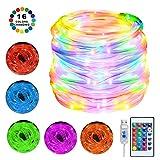 LED Schlauch Lichterkette Außen,10m 100 LEDs IP68 Wasserdicht Lichtschlauch,4 Modi 16 Farben LED Lichterschlauch mit USB & Fernbedienung & Timer für Innen, Außen,Weihnachts,Hochzeits, Party