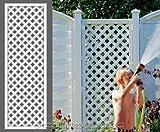 bambus-discount.com Rankgitter, Longlife weiß, 180 x 60cm aus Kunststoff - Sichtschutz, Sichtschutz Elemente, Sichtschutzwand, Windschutz