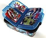 Avengers Kinder Brotdose mit 3 Fächern, Kids Lunchbox,Bento Brotbox für Kinder - ideal für Schule, Kindergarten oder Freizeit