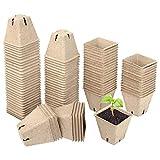 Schramm® Anzuchttöpfe 20, 60 oder 100 Stück aus Zellulose Höhe: 5,5 cm biologisch abbaubar Pflanztopf Pflanztöpfe, Anzahl:100 Stück