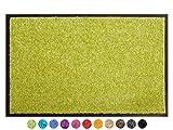 Primaflor - Ideen in Textil Schmutzfangmatte CLEAN – Grün 60x90 cm, Waschbare, rutschfeste, Pflegeleichte Fußmatte, Eingangsmatte, Küchenläufer Sauberlauf-Matte, Türvorleger für Innen & Außen
