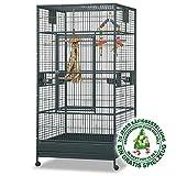 Montana Cages  | Arkansas I - Antik, Voliere, XXL Papageienkäfig, Vogelkäfig für große Papageien