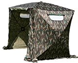 UHATEX Angelzelt 2 Mann, Karpfenzelt, Wetterschutzzelt ohne Boden, Camouflage, in 30 Sekunden allein auf- und abgebaut