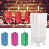 luckything Kerzengießform, Trapezförmiger Eisberg Kerzenform DIY Stereo-Kerze-Form Seifenform 3D-Kunststoff-Craft Forme Für Hausgemachte Handwerk Seifenkerze DIY Mold