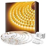 Govee 5m 3000K Warmweiss LED Strip, LED Lichtband, 300 LEDs, warmweiß, dimmbar, für Spiegel Deko Party Küche