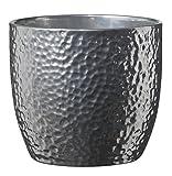 Soendgen Keramik Blumenübertopf, Boston Metallic, silber, 16 x 16 x 15 cm, 0049/0016/1874