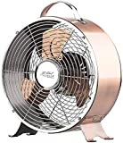 Sichler Haushaltsgeräte Nostalgie Ventilator: Tisch-Ventilator aus Vollmetall im Retro-Design, 20 Watt (Retro Ventilator Metall)