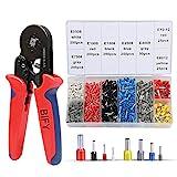 Crimpzangen Aderendhülsen Set, BIFY Endklemme, 1200 Kabelverbinder Tool Kit 0, 25-10 mm² Selbstausrichtende Core Fitting Crimp Tool
