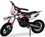 Kinder Mini Crossbike Gazelle ELEKTRO 500 WATT inklusive verstärkter Gabel Dirt Bike Dirtbike Pocket Cross (Orange)
