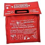 Löschdecke Brandschutzdecke gross 1.6 x1.8 m nach DIN EN 1869:2001 Feuerlöschdecke