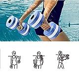 Mayyou Sport-Wasser-Übung Hanteln-Set von 2-Unisex Erwachsene Aqua Hantel für Wasser-Aerobic, Pool-Übungsgeräte, Widerstand Wassergymnastik Fitness