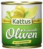 Kattus Spanische grüne Oliven, mit Zitronencreme gefüllt, 8er Pack (8 x 200g)