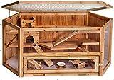 HTI-Line Hamsterkäfig Gino Hamsterkäfig Kleintiervilla Kleintierstall Holzkäfig Nagerstall Mäusekäfig Kleintierstall Holz