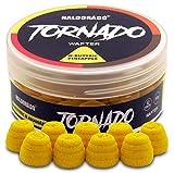 Haldorado Tornado, Räuchern oder Bluten Pellet Boilieköder, Angelköder, Karpfenangeln, Zubehör, Sonderform, N-Butyric+Ananas, Gelb