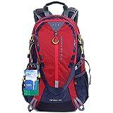 EGOGO 30L Wasserdicht Wanderrucksack Camping Rucksack mit Regenschutz Laufen Radfahren im freien S2316 (Rot)