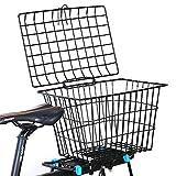 EEKUY Hintere Fahrrad Lenkerkorb, Anti-Rost-Bike Zubehör Fahrradkörbe Fahrrad Rucksäcke Geeignet für Bike Elektro-Auto