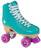 Hudora Disco Rollerskates Unisex Rollschuh, Grün/Lila, 36, 13182