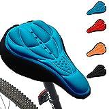 Romote Generisches Radfahren 3D Silikon-weiche Dicke Gel-Kissen-Abdeckung Fahrrad Mountainbike Sattel Sitzpolster 4 Farben Optional (blau)
