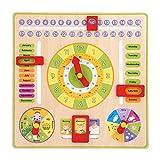 Kinder Kalender Lernuhr Spielzeug Hängend Pädagogisches Spielzeug Früherziehung Geburtstag Geschenk Zeit Datum Jahreszeit Wetter