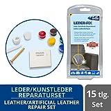 1-2-3 REPAIR Leder Reparaturset für Ledercouch, Lederjacke - einfach reparieren - 15tlg. Set 7 Farben