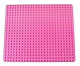 Strictly Briks - Stapelbare Premium-Bauplatte - kompatibel mit Bausteinen Aller führenden Marken - nur für Steine mit großen Noppen geeignet - 16,25' x 13,75' (41,3 x 34,9 cm) - Rosa