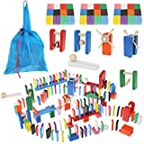 Kruzzel Domino Set Holz Dominosteine für Kinder Hindernisse 360-tlg 9357