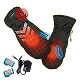 Elektrische Beheizbare Handschuhe für Männer/damen mit Wiederaufladbare, mit 3 Stufen Einstellbar Temperatur, Wasserdicht Touchscreen Heizung Thermo Handschuhe zu Winter Outdoor Radfahren Snowboarden