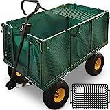 Deuba Bollerwagen herausnehmbare Plane bis 550kg belastbar Handwagen Gartenkarre Gartenwagen Transportwagen Karre