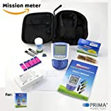 Amazon Starterpaket PLUS Bundle (Mission 3in1 Cholesterin Messgerät + 5 Cholesterin Test Streifen + 100 Mission Kapillar Transfer Röhrchen + 100 Sicherheits Lanzetten)