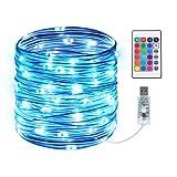 Led Schlauch, Infankey 10M 100 LED Lichterschlauch mit Fernbedienung &Timer, Led Lichterkette Außen mit 16 Farben & 4 Modi, IP68 Wasserdicht, USB Lichtschlauch für Wohnzimmer, Deko, Party, Feier