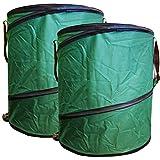 2x Gartenabfalltonne Pop Up faltbarer Gartensack 160 Liter Laubsack aus stabilen Oxford Nylon bis 50 Kilo