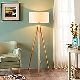 Lindby Dreibein Stehlampe 'Mya' (Für Kinder, Junges Wohnen) in Weiß aus Textil u.a. für Wohnzimmer & Esszimmer (1 flammig, E27, A++) - Stehleuchte, Floor Lamp, Standleuchte, Wohnzimmerlampe, Tripod