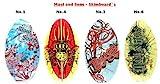 Maui & Sons Wave Skimboard Wellenreiter Waveboard Schwimmbrett Bodyboard Surfbrett (Skimboard-No-4-rot-schwarz)