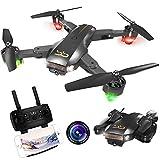 ScharkSpark Drohne Thunder mit Kamera Live Video, RC-Quadcopter, einfache für Anfänger zu steuern, Faltbare Arme, 2,4G 6-Achsen, Kopflos-Modus, Höhe halten, EIN-Tasten-Start und- Landung, 3D-Flips