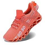 Vivay Damen Laufschuhe Walking Athletic fAr Frauen Casual Slip Fashion Sports Outdoor-Schuhe, Orange, 42 EU