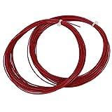 VGEBY1 2 STK. Badminton Saite, 10 m hohe elastische Badminton Saite Strapazierfähige Badminton-Linie mit guter Haltbarkeit für Federballschläger(Rot)