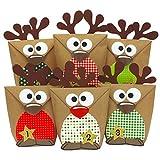 Papierdrachen Rentier Adventskalender zum Befüllen - mit roten Bäuchen zum selber Basteln - 24 Tüten zum individuellen Gestalten und zum selber Füllen - Weihnachten 2020 für Kinder