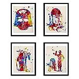 Nacnic Star Wars Poster Set | Star Wars Bilder in Aquarell-Art-Wand-Dekor-Kunst | Set von 4 Blättern | Ungerahmt A4 Größe | 250g Papier Hohe Qualität | Startseite Wohnzimmer-Dekoration