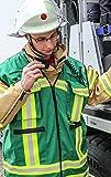 Kennzeichnungsweste GRÜN mit HupF Bestreifung Feuerwehr - Baumwolle MIH Medical