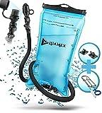 Luamex Trinkblase 2L - Wasserblase – BPA frei - Trinksystem mit On/Off Ventil, isoliertem Trinkschlauch - zum Radfahren, Wandern, Camping, Outdoor