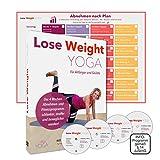 LOSE WEIGHT YOGA Premium DVD Box   4 Wochen Abnehm-Programm für Körper Geist Gesundheit   Yogaset deutsch: 4 DVDs Trainingsplan, Anleitung über 10 Std. Video Übungen für Bauch, Beine, Po