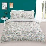 Dreamscene Mosaik-Bettwäsche-Set, Einzelbett, Polycotton, Polyester, 50% Baumwolle