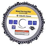 Schleiferkettenscheibe, 5-Zoll-Hartmetall-Schneidklingen-Winkelschleiferzubehör Hardware-Teile für das Beschneiden und Schneiden von Kunststoff-/Holzschnitzereien