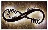 Led Unendlichkeitszeichen mit Namen Liebe Liebesbeweise zur Hochzeit Verlobung Jahrestag Hochzeitsgeschenke Wohnzimmer Schlafzimmer Freundin Verliebte Partner Geschenk