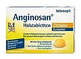 Tetesept Anginosan Halstabletten Zitrone - zuckerfrei - Halsschmerztabletten gegen akute Reizungen in Hals und Rachen, (1x 20 Stück)