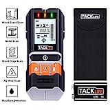 Ortungsgerät, Tacklife Metalldetektor, 5 in 1 Wand Scanner Detektor, Stud Finder, mit Großer LCD Hintergrundbeleuchtung, mit Schutztasche für Stromleitung Holz Metall und Feuchtigkeit - DMS05