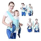 LYXCM Hüftsitz Für Babytrage, Neugeborene Und Vorbeugung Gegen O-Typ-Beine 6 in 1 Tragegurt 20 Kg Ergonomische Babytragetasche