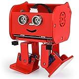 ELEGOO Roboter Penguin Bot Zweibeiniger Roboter Baukasten Kompatibel mit Arduino IDE, Mint Spielzeug mit Tutorial für Hobbybastler, STEM Toys für Kinder und Erwachsene V2.0(Rot)
